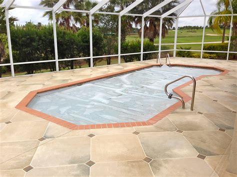 concrete designs florida travertine pool deck
