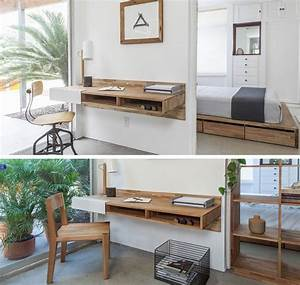 16, Wall, Desk, Ideas, That, Are, Great, For, Small, Spaces