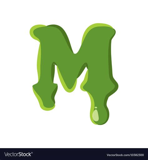 slime m m letter m made of green slime royalty free vector image