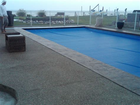 Exposed Aggregate Decking with seamless stamped concrete ...
