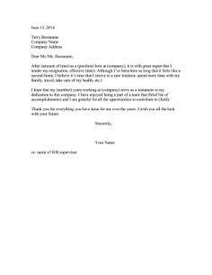 Job Resignation Letter Sample - Loganun Blog   Best Letter   Pinterest   Job resignation letter