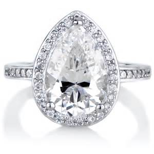 halo cubic zirconia engagement rings analisse 39 s cubic zirconia pear cut halo engagement ring
