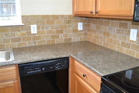 Tile Countertop by Tile Countertops Antique Brown Granite Tile Kitchen