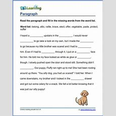 Grade 3 Vocabulary Worksheet  Paragraph  K5 Learning