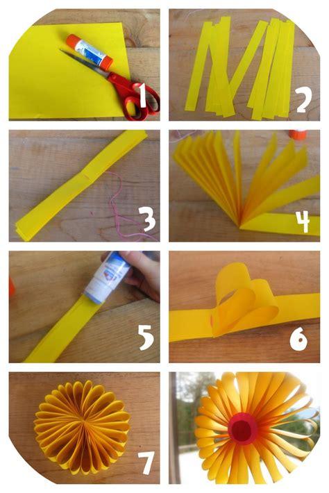 tournesol en papier brico fleur papier bricolage enfant et pliage