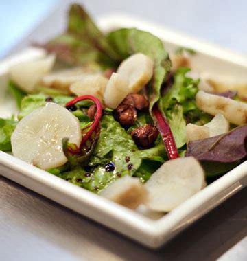 cuisine topinambour salade de topinambours vinaigrette à la noisette les