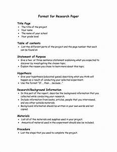 business research paper format