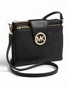 Lyst - Michael Michael Kors Fulton Crossbody Bag in Black