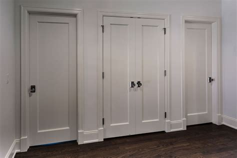 single panel paint grade mdf doors for closet and bedroom