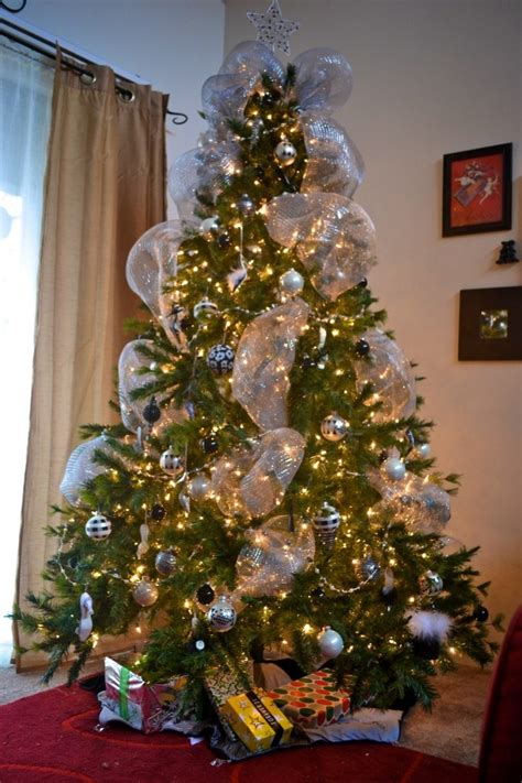 silver mesh for the christmas tree christmas tree ideas pinterest