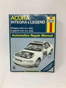 Haynes Repair Manual 12021 Acura Integra 1990