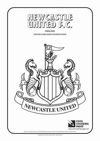 Coloring Newcastle Pages United Cool Soccer Logos