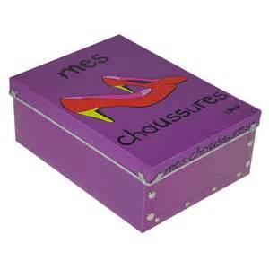 bo 238 te quot mes chaussures quot femme violet 42404 achat vente boite de rangement sur maginea