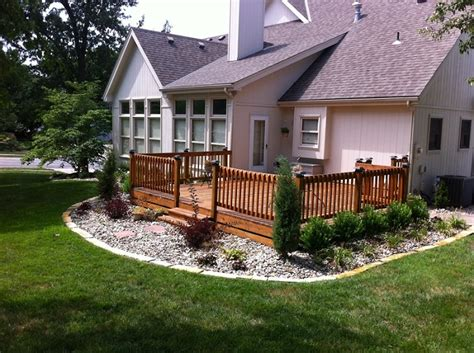 deck landscape ideas winkler s lawn care landscape