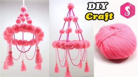 ceiling hanging design woolen craft easy diy craft