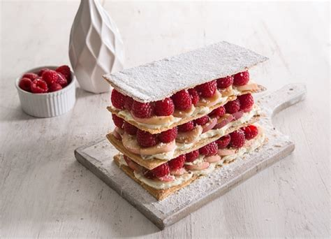vegetarian canapes easy mille feuille of and raspberry with a citrus