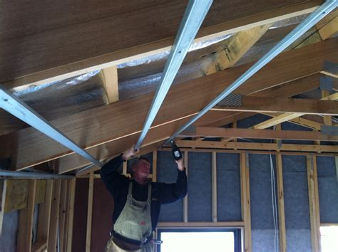 putting   ceiling  house