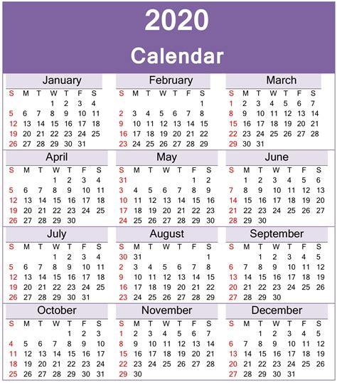 yearly  calendar printable template