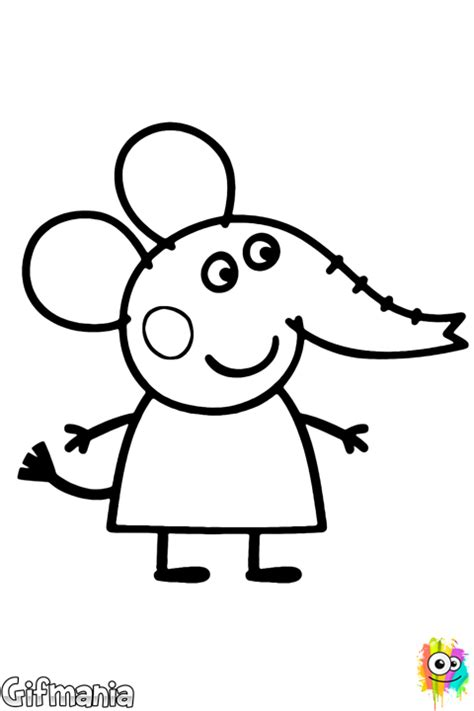 emily elephant coloring page