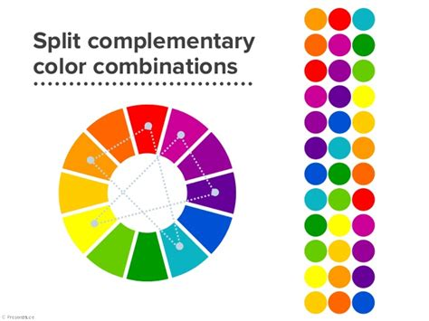 complementary colors list split complementary colors exle