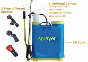 Agricultural Manual Battery Operated Knapsack Sprayer16l
