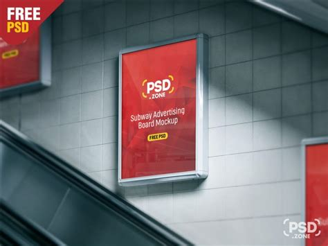 Subway Ad Mockup Subway Billboard Advertising Mockup Psd