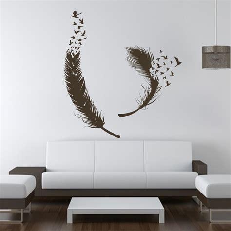 birds  feather wall decals vinyl decal housewares art