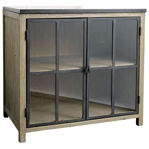 meuble bas de cuisine but meuble bas vitré de cuisine en bois et l 90 cm