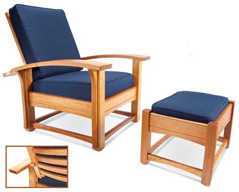 contemporary morris chair  ottoman popular