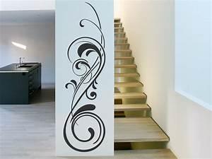 Tattoos Für Die Wand : wandtattoo ornament mit stilvollem schn rkel ~ Articles-book.com Haus und Dekorationen