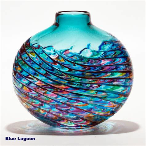 vases uk coloured glass vases optic rib by michael trimpol