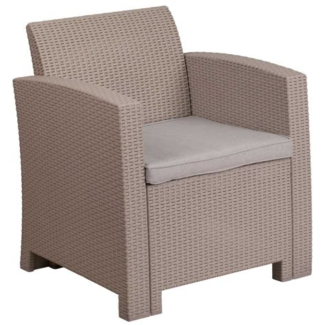 faux rattan patio chair charcoal in outdoor chairs