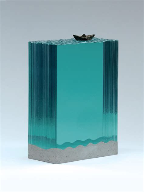 layered glass sculptures  ben young  dna life