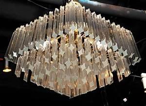Murano glass quot diamond chandelier at stdibs