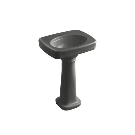 kohler bancroft single pedestal sink kohler bancroft vitreous china pedestal combo bathroom