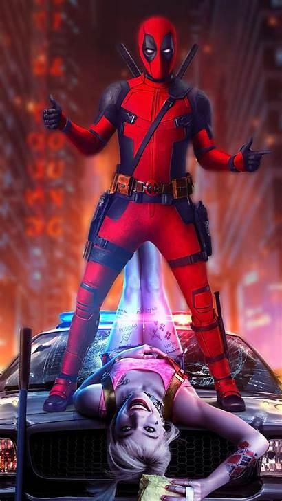 Deadpool Quinn Harley Cool Wallpapers S20 Samsung