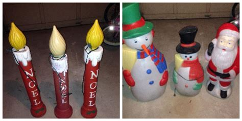 find   christmas blow molds vintage outdoor