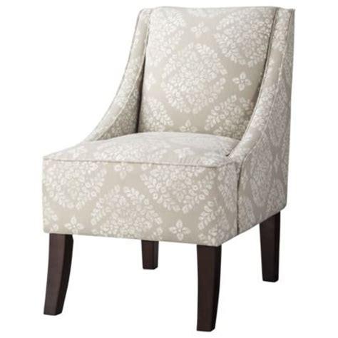 threshold swoop chair tan white medallion living room