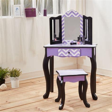 toddler vanity table vanity table wooden fashion furniture stool set