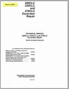 John Deere 200clc  230clc And 270clc Excavator Repair Manual