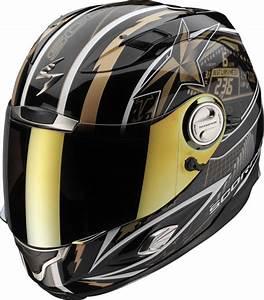 Casque De Moto : casque moto route int gral scorpion exo1000 speedster noir or discount ~ Medecine-chirurgie-esthetiques.com Avis de Voitures