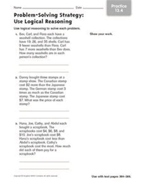 problem solving strategy use logical reasoning practice