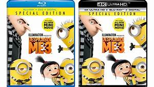 Despicable Me 3 Blu Ray 4k Blu Ray Release Date