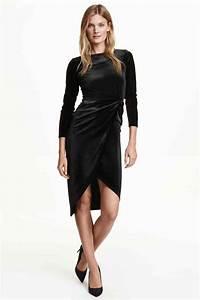 robe en velours a effet drape hm pickture With robe velours h m