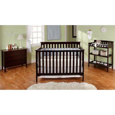 baby crib walmart bsf baby grace 4 in 1 nursery furniture set cherry