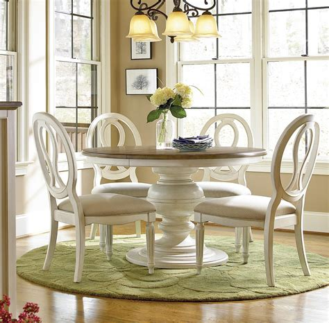 country chic  piece  white dining table set zin home