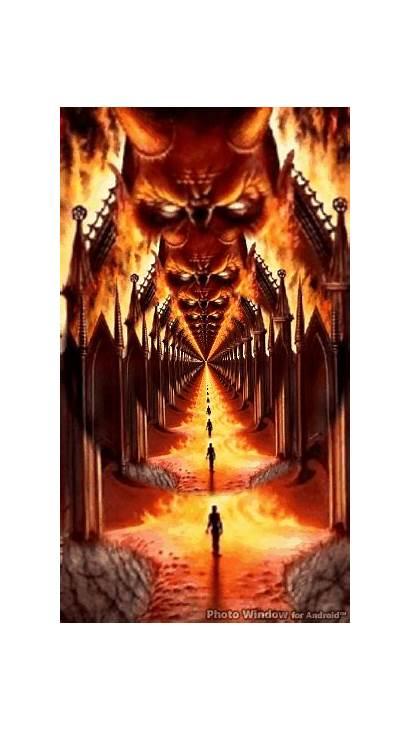 Hell Gates Scary Fantasy Dark Halloween Gothic