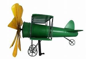 Windspiel Garten Metall : windspiel flugzeug metall windrad doppeldecker gr n gelb ~ Lizthompson.info Haus und Dekorationen