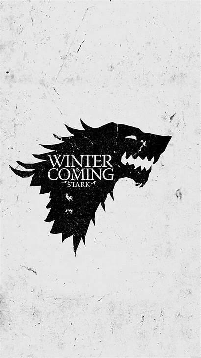 Thrones Winter Iphone Coming Stark Wallpapers Sigil