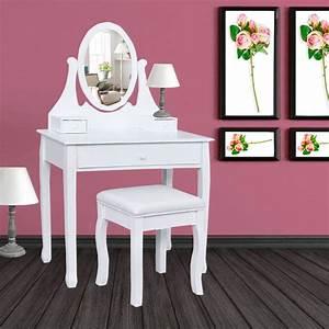cheap coiffeuse table de maquillage en bois avec miroir et With meuble coiffeuse avec miroir pas cher